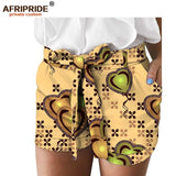 2018 latest african print summer shorts for women AFRIPRIDE women casual shorts A1821005