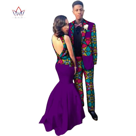2018 new Men Sets and women's clothing for the wedding summer traditional african clothing couples matching clothing 4xl WYQ78