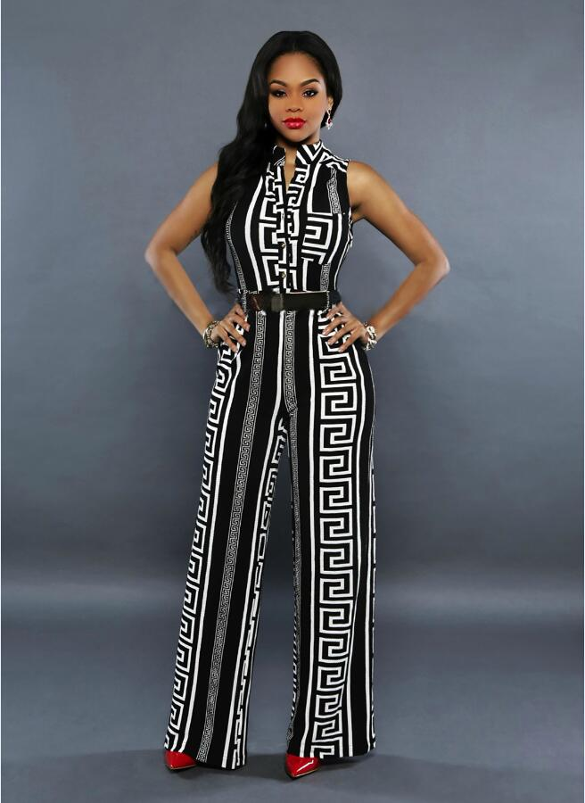 2018 New Autumn Rompers Womens Jumpsuit Elegant One Piece Long Wide