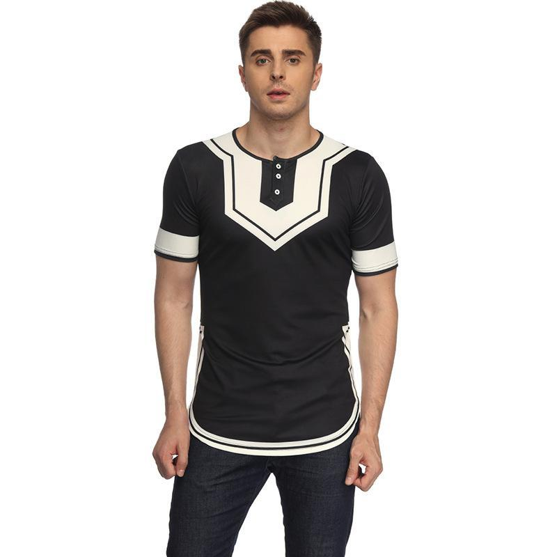 2018 New Fashion Style African Men Plus Size Printing T Shirt M 2xl