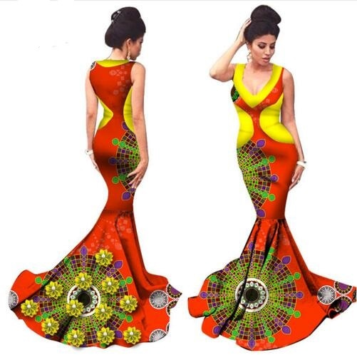 2018 new fashion style african women cotton plus size dress M-6XL