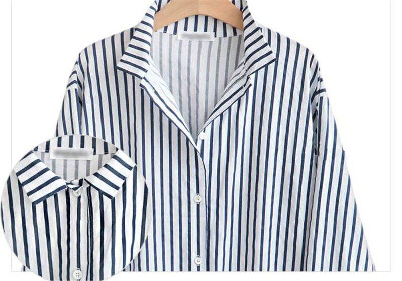 c8956e846d9 2018 spring Casual Long Sleeve blusas Plus Size Long Striped Shirt Women  Tops kimono cardigan Oversized ...