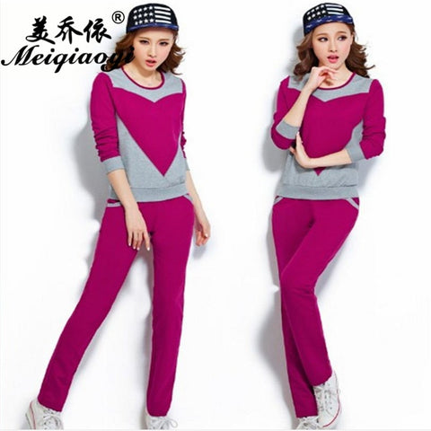 2018 spring New style Women Round Neck sleepwear long sleeve trousers pajamas sets Lovely girl home clothe Leisure motion wear