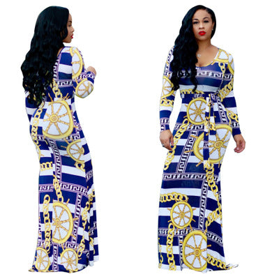 fe7923a7cbe ... Image of 2018 spring and autumn new European and American sexy digital  printing fashion style XL ...