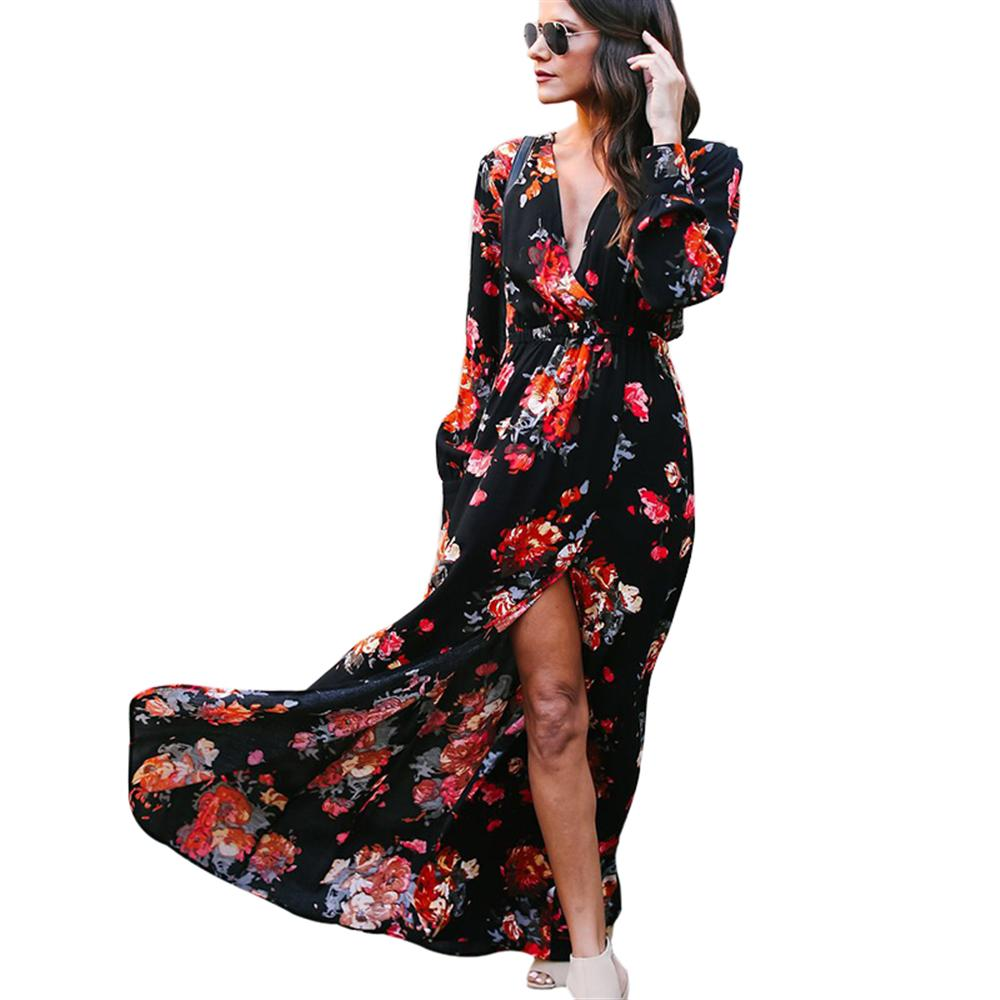 2018 Spring And Autumn New Women S Long Sleeved Dress Fashion Casual