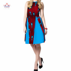 ... 2018 summer Dresses Plus Size african dresses for women o-neck women  african clothing knee 53aa0dcb63ec