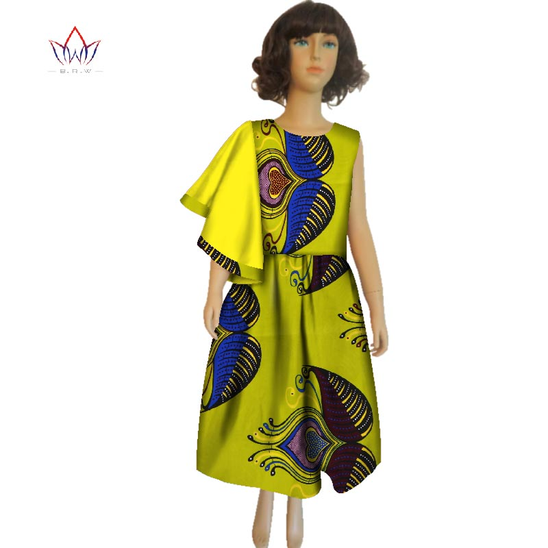 e45f5b09de956 2018 summer african clothes for girls dashiki Traditional cotton Dresses  o-neck african kids clothing print natural BRW WYT191