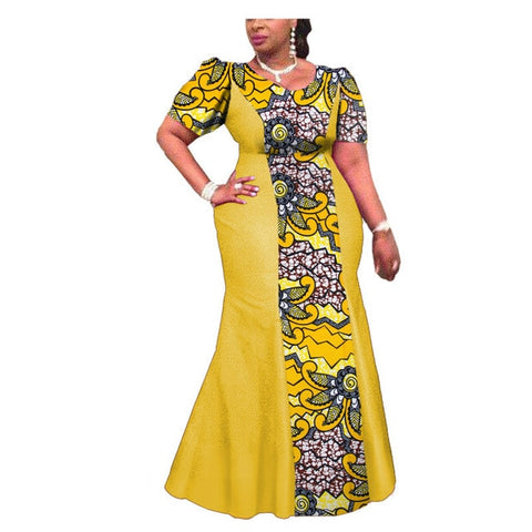 2018 summer fashion african women cotton plus size dress XS-4XL