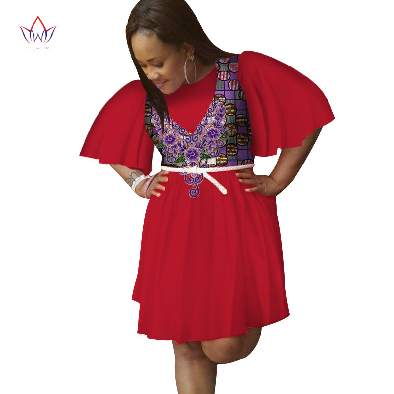 7ef2efc83ee ... 2018 summer women african clothing o-neck Dress Half Sleeve african  women clothing casual traditional ...