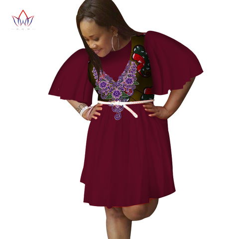 9a1afe6119f ... Image of 2018 summer women african clothing o-neck Dress Half Sleeve  african women clothing ...