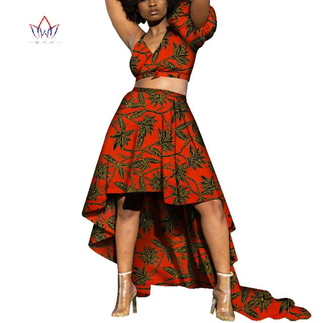 ab10b03c86219 2019 African Clothes Dashiki for Women Bazin Riche Crop Top and ...
