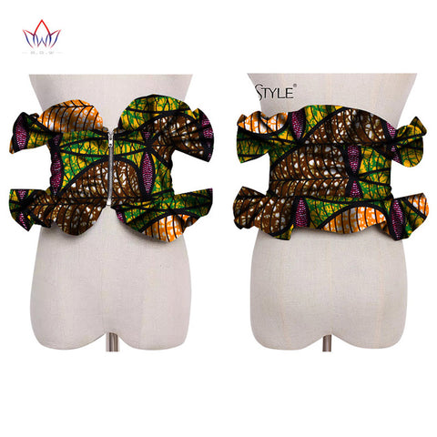 Image of 2019 African Print Obi Ankara Multi-color Peplum Skirts for Women Gift Statement Belt Accessory Ankara Handmade Jewelry SP041