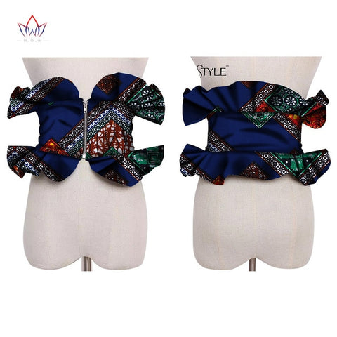 2019 African Print Obi Ankara Multi-color Peplum Skirts for Women Gift Statement Belt Accessory Ankara Handmade Jewelry SP041