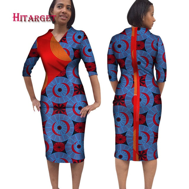 d2c2be52356 2019 Autumn Long Sleeve Vintage Traditional African Dresses for ...