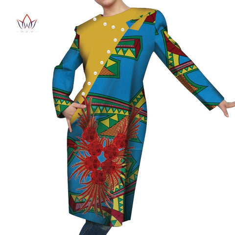 2019 Autumn women african clothing Dress cotton african women clothing casual traditional african dress none 6xl WY4467