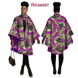 2019 Hitarget Autumn African Women Traditional Top Dashiki Print Wax Elegant Riche Trench Coat Africa Clothes for Ladies WY1190