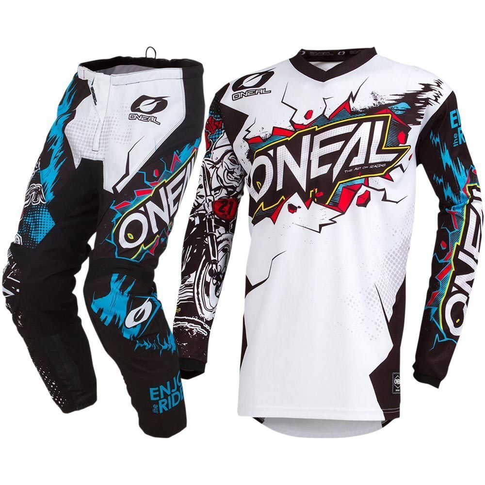 ONeal Unisex-Child Youth Element Jersey VILLAIN White, Small