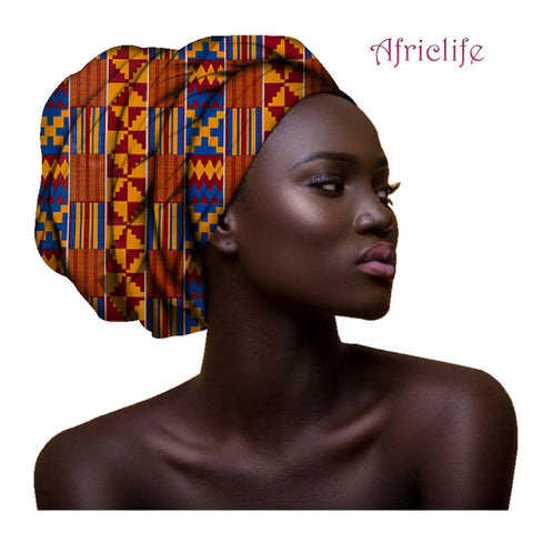 2019 Multi-color Hair Accessory Headband Bazin Head Wrap Tie Scarf High Quality African Hair Head Scarf African Scarves AF003