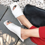 2019 New Fashion Women Slippers SheepSkin Genuine Leather Square Toe Sandals Shoes Woman Summer Rome Casual Party Basic Shoes