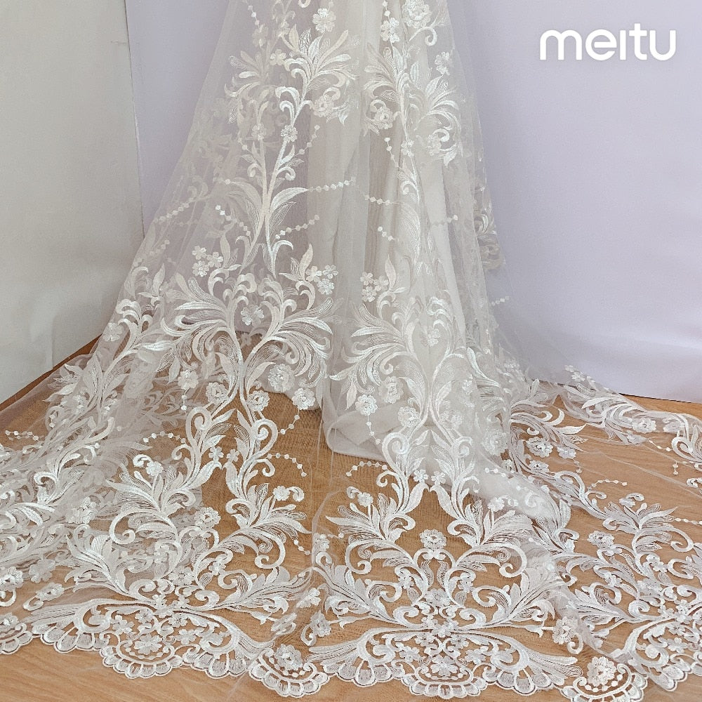 2019 New Style 130 Cm High Quality Exquisite Wedding Dress Lace