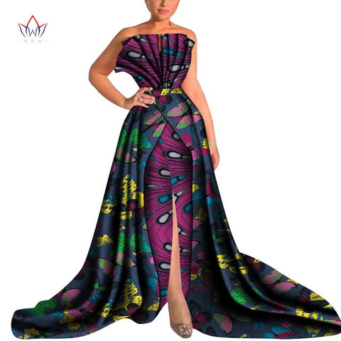 2019 Spring Plus Size african dresses for women long-party-dress vintage african dresses for women in african clothing WY4650