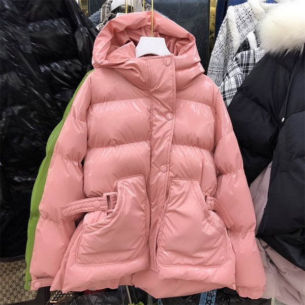 2019 Time-limited Direct Selling Thick Winter Women's Coat Net With The Waist Cotton Clothing Bright Face Candy Color Women