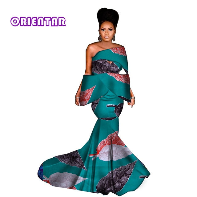 e245ba341f8 2019 Women Long Skirt Set African Clothes African Print Dresses Sexy Slash  Neck Tops and Skirts. Hover to zoom