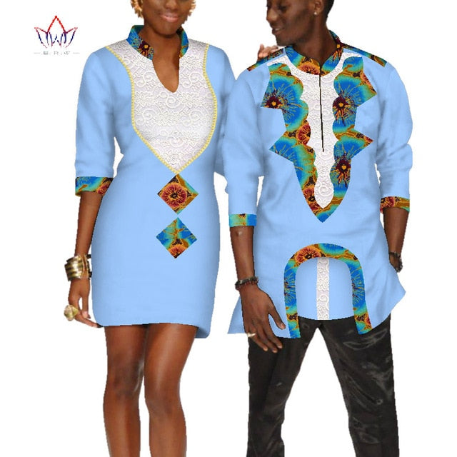 98fc9674b Hover to zoom · 2019 african clothes for couples wedding Dress and men  shirt dashiki couple dress for lovers half