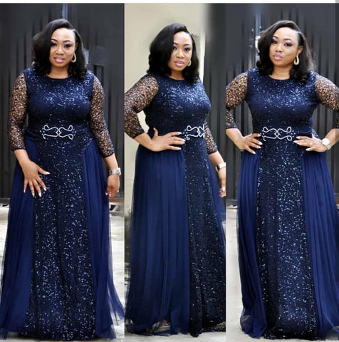 ee2e5f17e3604 2019 new arrival elegent african women lace plus size long dress M-XXL
