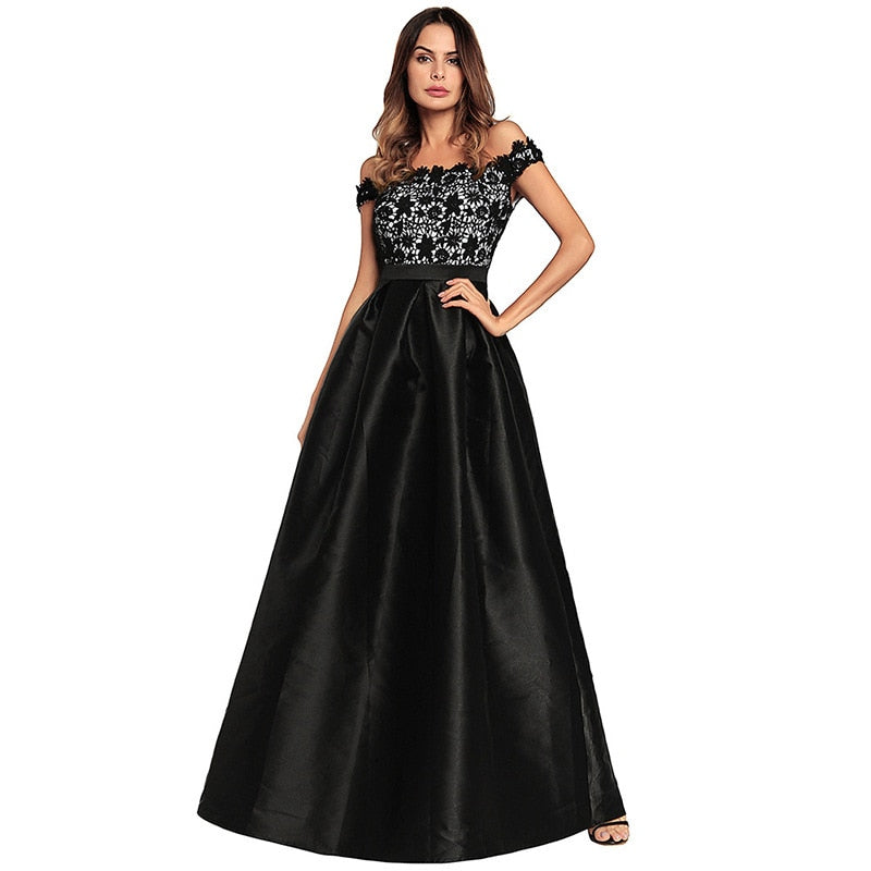 2019 new arrival elegent spring fashion women lace plus size long dress  S-XXL ... 7a45290b8170