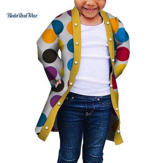 2019 new autumn African children's coat boys and girls traditional clothing long-sleeved trench coat african clothes WYT318
