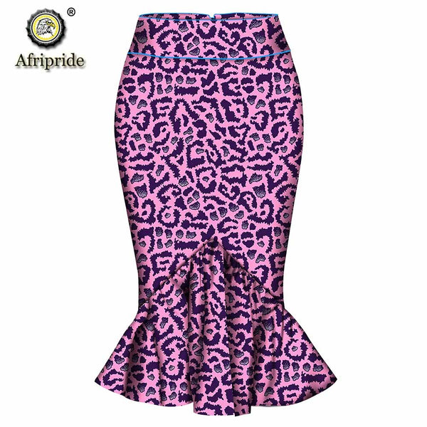 2019 spring african casual skirt for women AFRIPRIDE natural waistline ankara print dashiki bazin riche pure cotton S1827005