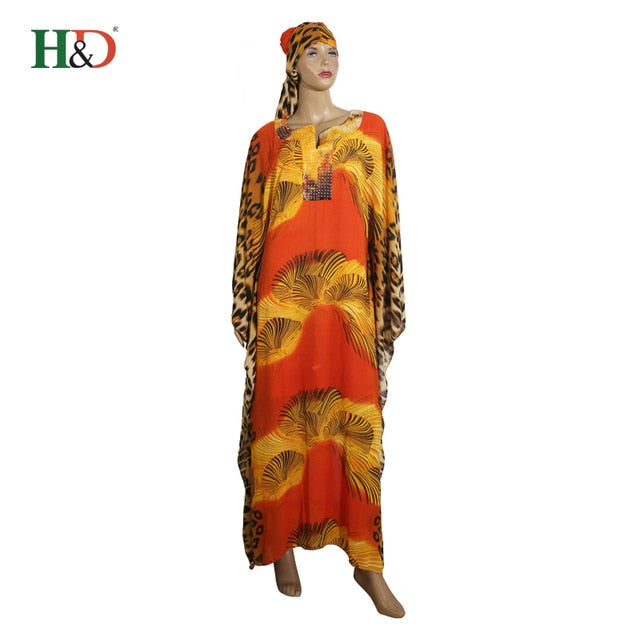 53be88908d73 ... leopard print batsleeve chiffon Loose Long Dress maxi dresses african.  Hover to zoom