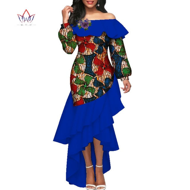 2019 summer african dress for women plus size Dashiki african long dresses  for women in african print clothing 4xl none WY3939