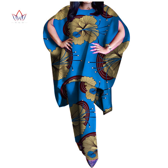 5ac5027c07671 ... 2019 summer two Piece Casual Set Wax Top and Pant Suits African 6xl  africa Cotton regular ...