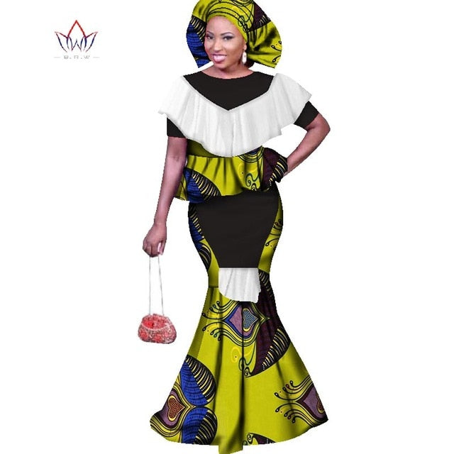 996c91e650d Hover to zoom · 2019 traditional african clothing dresses for women 6xl  Fashion Design bazin riche ...