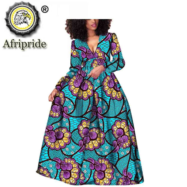 2020 African women dress ankara print pure cotton bashiki bazin riche new style  dress  African fabric  AFRIPRIDE  S1825021