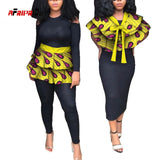 2020 Fabric African Necklaces for Women Shawl African Chokers Necklaces or Waist Skirt 2 Ways to Wear Ankara False Collar SP072