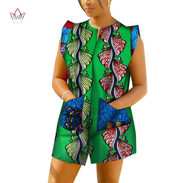 2020 Summer Women African Clothing 6XL African Jumpsuit For Women sleeveless African Fashions For Women Dashikis Print WY6629