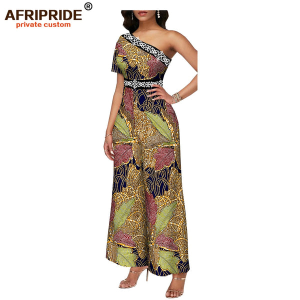 2020 african jumpsuits for women playsuits bodysuit women rompers ankara clothing formal outfit dashiki wax AFRIPRIDE A1929006