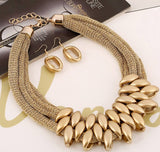 African  Statement Necklace Earrings  Wedding Bridal Set,High fashion African jewelry sets