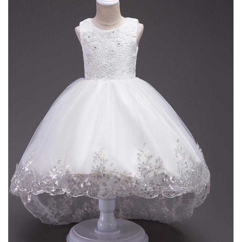 $3 Coupon Off Baby Red Wedding Gowns Children Flower Girl Dresses ...