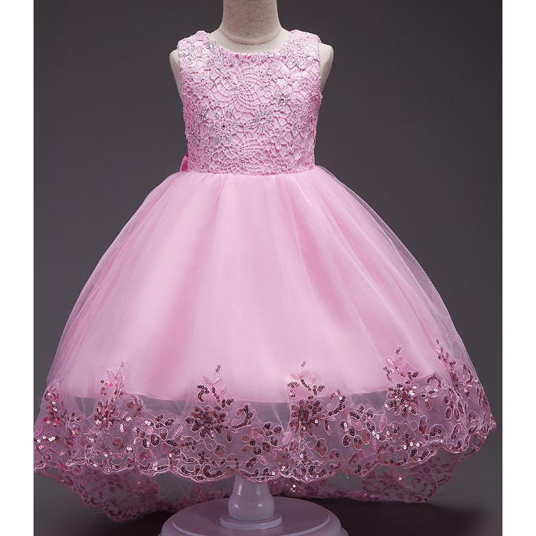 2c309f25bf8 ... Wedding Gowns Children Flower Girl Dresses Mermaid Floral Long Princess  Party. Hover to zoom
