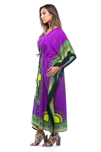 9bc53c8974d African Print Dashiki Maxi Caftan For Women at Amazon Women s Clothing store   Click to expand