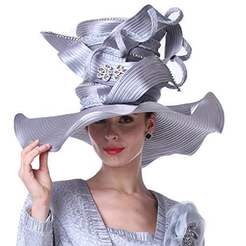 12a3896b6c09c Kueeni Women Hats Church Hats for Wedding Mother of Bride Hats ...