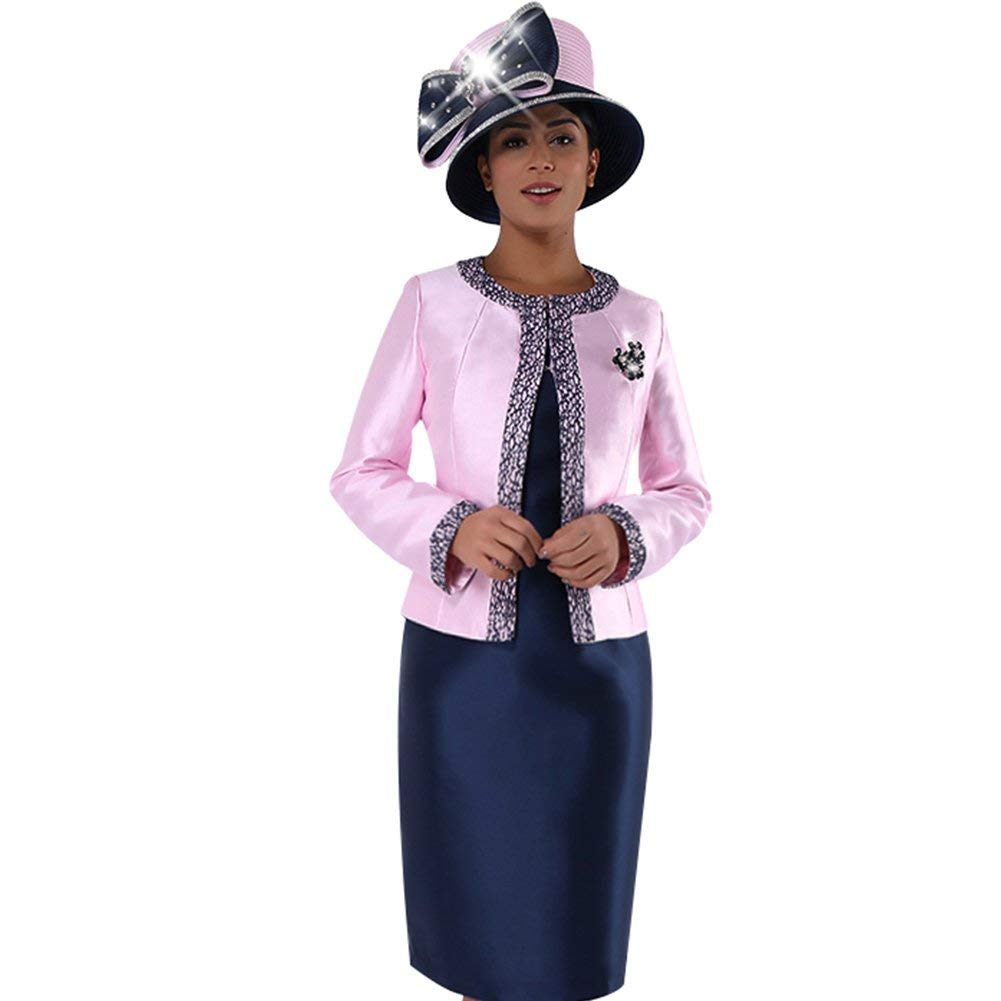 0b170ebd Kueeni Women Church Suits with Hats Church Dress Suit for Ladies ...