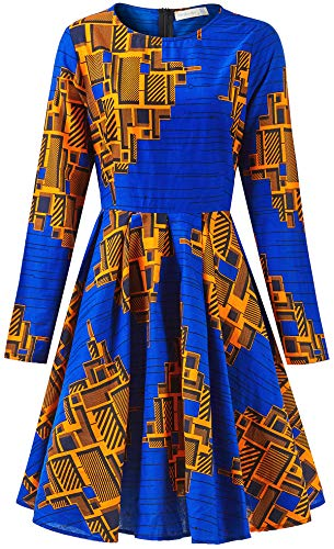 0c682d4a13 Amazon.com: Shenbolen Women African Print Dress Dashiki Traditional Cl –  Owame