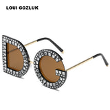 5PCS New Diamond Oversized D Square Sunglasses Women Men High quality G Sunglasses Luxury Eyeglasses gunes gozlugu Lentes de sol
