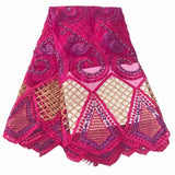 5yards/lot High quality 2017 african french beaded lace fabric french lace with beads for clothes nigeria dress NA996B-1