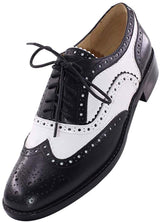 JARO VEGA Women's Comfort Leather Sole Perforated Lace Up Wingtip Vintage Handmade Oxford Flats Shoes